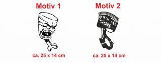 E48 Motorkolben Kolben Sticker Auto Aufkleber Tuning
