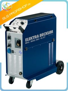 Elektra Beckum Schutzgas Schweißgerät MIG/MAG 300/45 XT inkl. 15 kg
