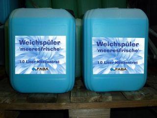 WEICHSPÜLER MEERESFRISCHE 2 x 10 Liter im Kanister, 0,85 o / L