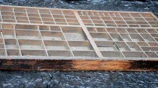 original aus Druckerei 100 Jahre alt SUPER Letterpress wood tray 940