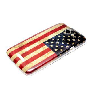 HTC One X / XL Hülle Case Schutzhülle Hard Cover Tasche Bumper Retro