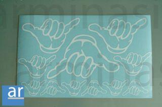 Surf Hand Aufkleber Set Sticker Bulli Käfer VW Shaka