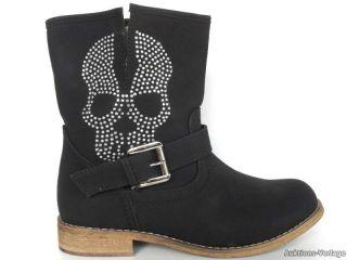 NEU  Damenstiefelette Stiefel Boots Nietendekor Leder   Optik 9242