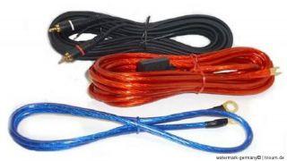 Verstärker Endstufe Subwoofer Kabel KIT AUTO CAR HIFI Komplett Set #