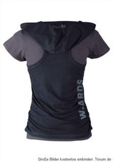 2in1 Kaputzentop u. Shirt 4wards Top kurzarm T Shirt, Top mit Kaputze