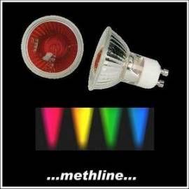 Halogenlampe 50W 230V GU10 farbig rot Halogen bunt