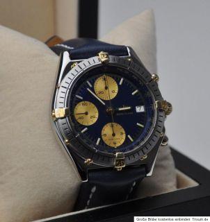 Breitling Windrider Chronomat mit Papieren Ref 81950 in Stahl Gold