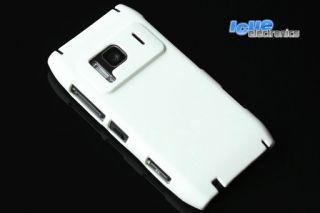 Nokia N8 HARD COVER WEISS + FOLIE Schutzhülle Hülle Schutz Tasche