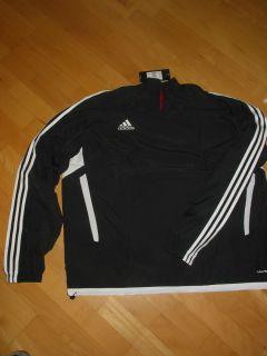Adidas Trio11 Windbreaker Fussball schwarz/weiß Gr. S, L, XL