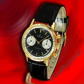 BREITLING Uhr Top Time 2004 Valjoux 7730 in 18 Kt Gold