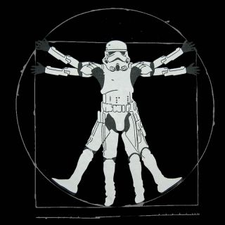 lustiges STORMTROOPER Da Vinci Vitruvian T SHIRT Star Wars fun (S) (M