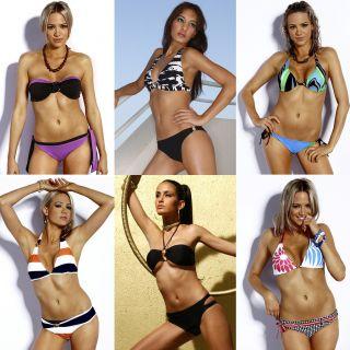 Bikini Sets ★ Bandeau Neckholder Triangel BIKINIS Tanga schwarz