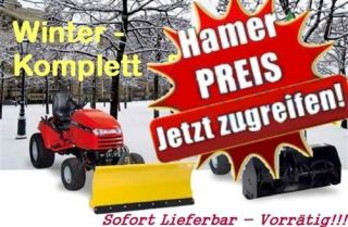 Herkules Allrad Rasentraktor HT 110 + Schneefräse + Schneeschild