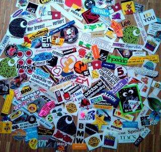 Stickerbomb 180+ (Aufkleber Sticker Sammlung Auto Skateboard Snowboard