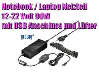 Laptop Notebook 90W Netzteil 12V 16V 18V 18,5V 19V 19,5V 20V 22V