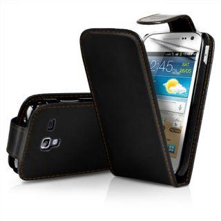 NEU Leder Flip Case Etui Samsung Galaxy S3 mini i8190 Klapp Tasche
