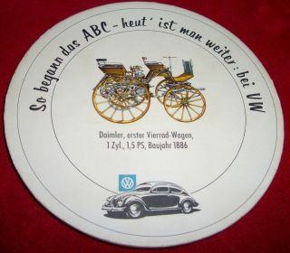 VW Ovali Brezel Kaefer Bus Accessory Beetle Oval beer coaster Karmann