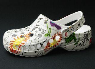W002 DAN Original WOZ Clogs Schuhe Gr. 37 Picasso Bianco