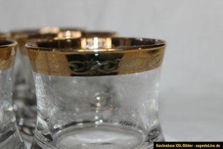 Wunderschöne Murano Gläser Medici Whisky Glas Schwer TOP ZUSTAND