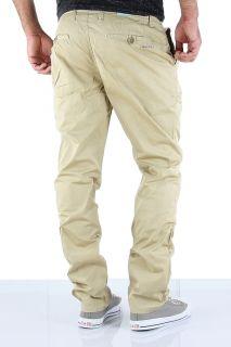 & BAXX Chinohose Herren Hose Chino Slim Jeans Stoff Beige C 993 NEU