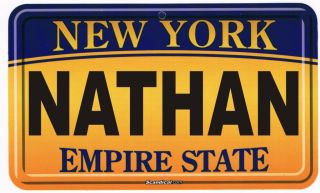 Personalized Custom NEW YORK LICENSE PLATE Room Sign