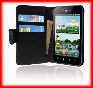 LG Optimus Black P970 Leder Tasche Lederhuelle Huelle Flip Case