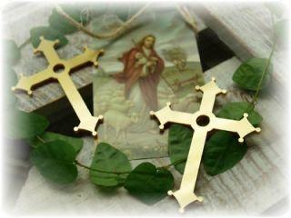 50 Kreuze gold Kreuz Streudeko Tischdeko Kommunion Konfirmation Taufe