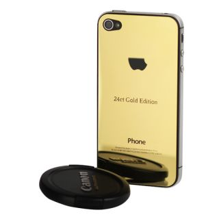 Gold Effekt Stainless Steel Back Cover iPhone 4S Oberschale Tasche