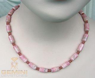 RHODOCHROSIT Kette rosa edelstein kette rhodochrosite