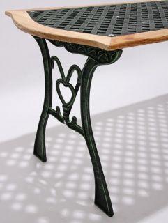 Gartentisch Gußeisen, Tisch (optional grün od. bronze)