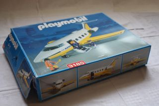 Playmobil 3185 Flugzeug Aero Line inkl. Figuren in OVP mit Anleitung