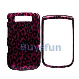 Leopard Full Hard Cover Case For Blackberry Torch 9800