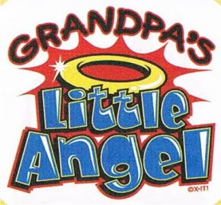 GRANDPAS LITTLE ANGEL Cute Sunday Church Love Family Humor Funny Kids