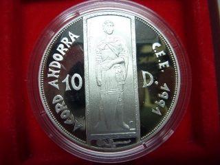 Andorra Silber Silver 10 Dinar 1993 4 Heubach Edelmetalle