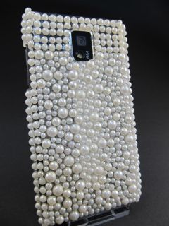 LG Optimus Speed P990 Glitzer Huelle Cover Crystal Bling Strass Perlen