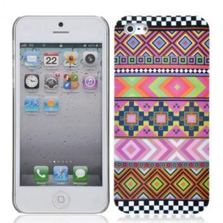 iPhone 5 5G Hard Case Azteken Design Hülle Schale Cover Tasche Schutz