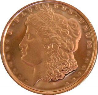 NMS   2012   Morgan Dollar   1oz.av. 999fein Kupferbarren Kupfermünze