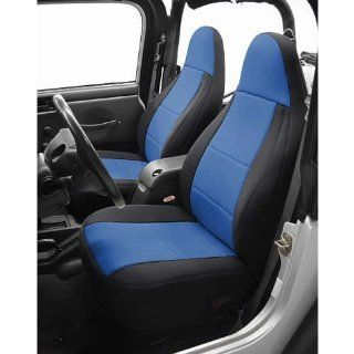 Coverking SPC268 Black/Blue Front Seat Covers For 2007 10 Jeep