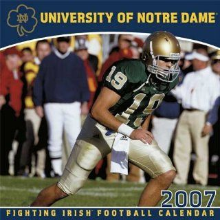 Notre Dame Fighting Irish 2007 Team Wall Calendar Sports