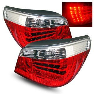BMW 525xi 2006 2007 LED Tail Lights Red Clear (Fits Base Sedan 4 Door