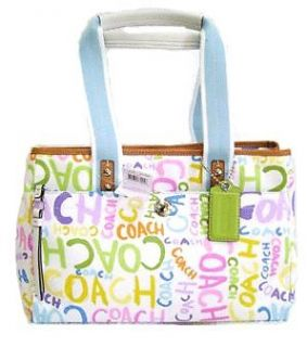 2009 Coach Tote 13565 Hamptons Signature Paint Graffiti