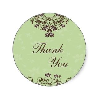 You Seal   Mint Green & Chocolate Brown Round Stickers