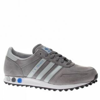 Adidas Trainers Shoes Mens La Trainer Grey Shoes