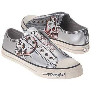 $90 Ed Hardy Skull Bones Mens Skate Shoes Sneakers Shoes