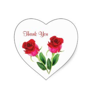 red roses Wedding Thank you Sticker by IrinaFraser