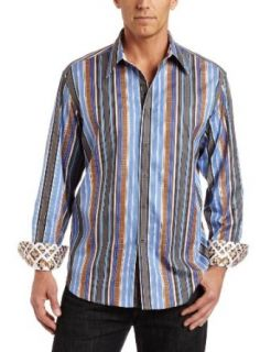 Robert Graham Mens Taino Shirt, Brown, 2X Large: Clothing