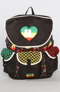 Harajuku Lovers Rasta Work Rucksack Backpack Clothing