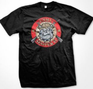 USMC Bulldog Semper Fi Mens T shirt, United States Marines