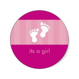 BABY SHOWER STICKER  happy feet 14