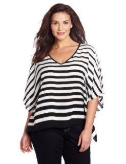 Karen Kane Womens Plus Size Modern Stripe Tunic Dress